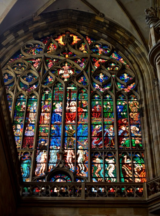 A panorama of stained glass