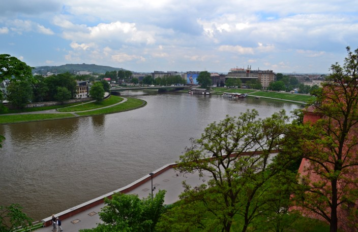 Above the Vistula River, viewed from Wawel Hill