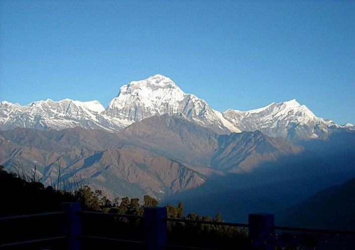 Annapurna and surrounding peaks
