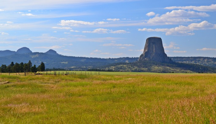 Approaching Devils Tower from the south