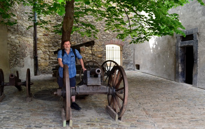 Artillery in the courtyard