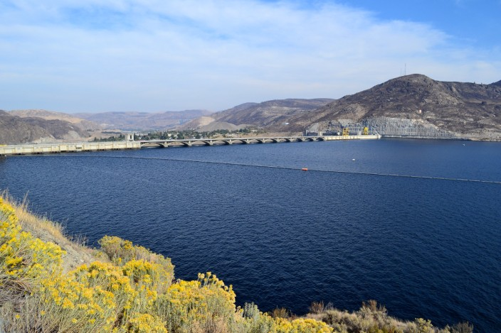 Backside of Grand Coulee Dam