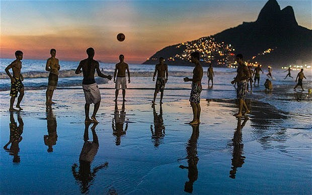 Beaches and futbol, two of Brazil's most famous attractions