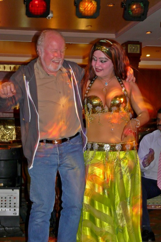 Belly dancer and friend