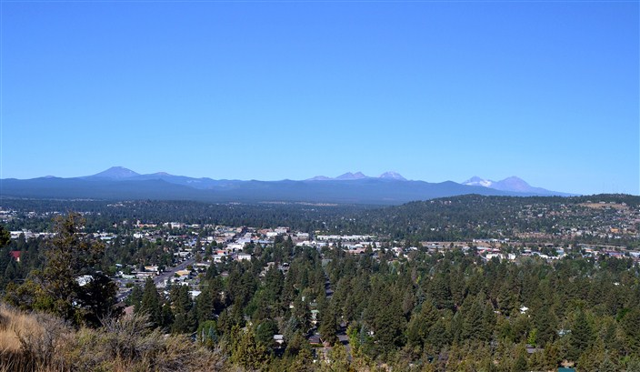 Bend, Oregon seen from Pilot Butte