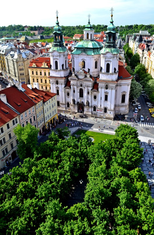 Birds-eye view from Astronomical Clock Tower