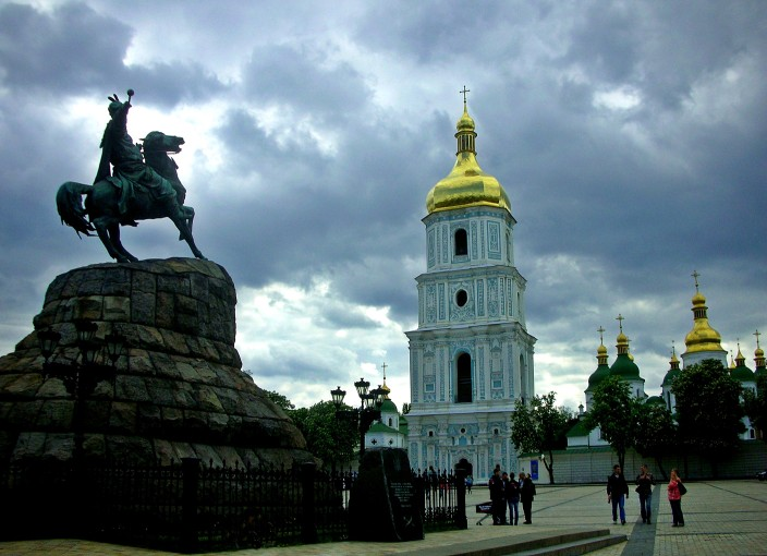 Bohdan Khmielnitsky, Bell Tower and Domes of St. Sophia