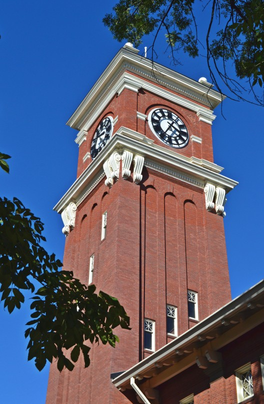 Bryan Hall clock tower on Washington State University campus