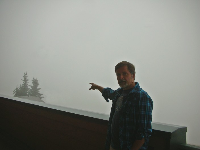 Can you see Hurricane Ridge? No, really, it's out there, trust me
