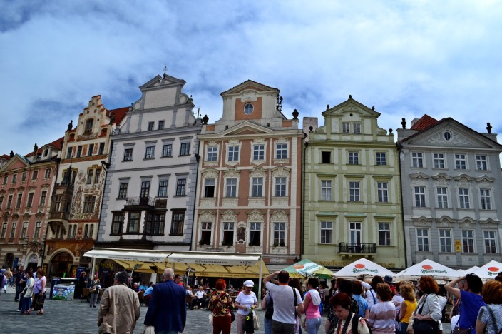 Colorful architecture of Old Town Square