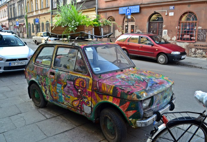 Colorful car or mobile planter?