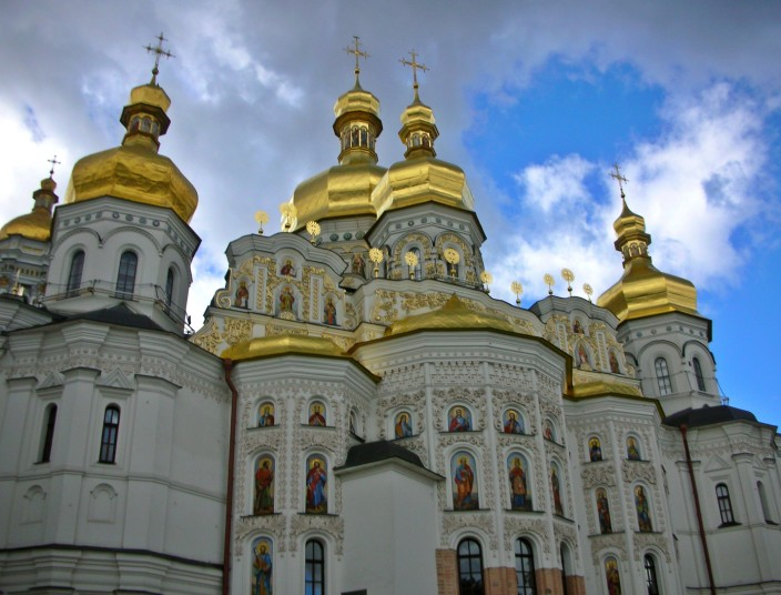 Pechersk Lavra gleaming in the sun