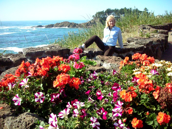 Flowers on the shore