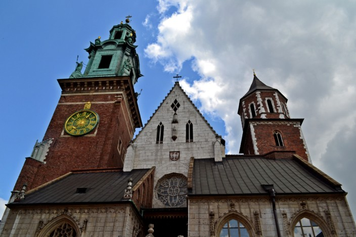 Front facade of Wawel Cathedral