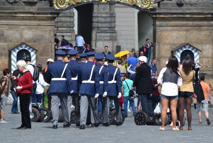 Guards, Segways, short-shorts...you'll see it all here