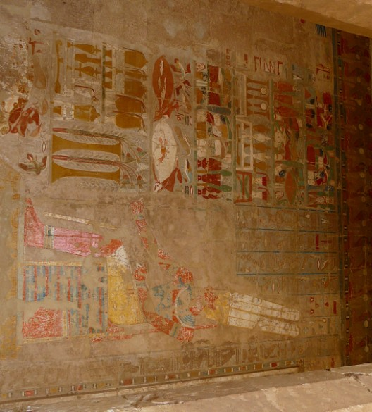Hieroglyphics inside the temple