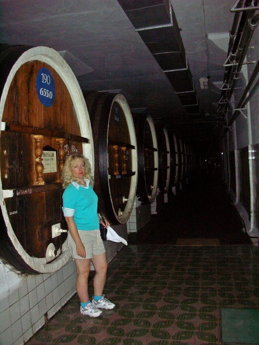 In the barrel cellar