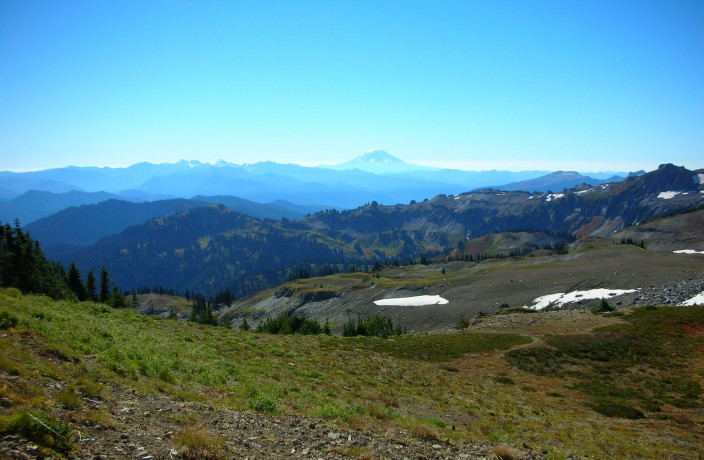 In the Panhandle Gap - view to the south of Mount Adams