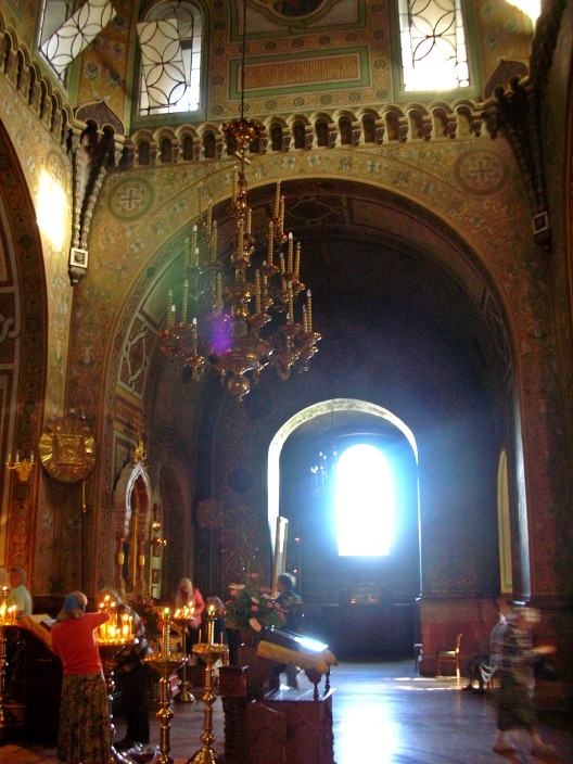 Inside Alexander Nevsky church