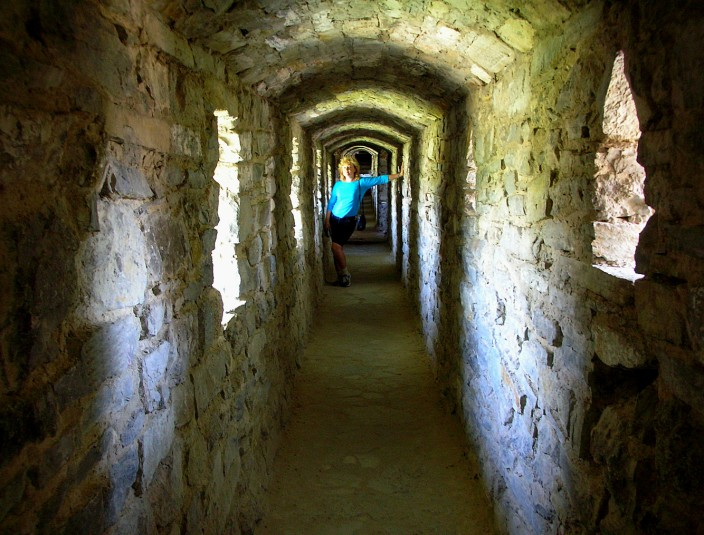 Inside the ramparts