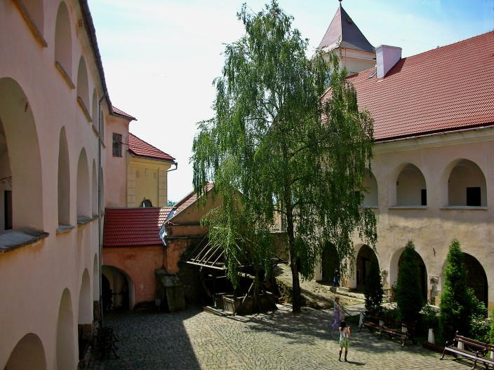 Interior courtyard of Palanok Castle