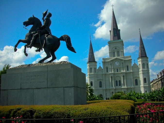Jackson Square and St. Louis Cathedral, French Quarter, New Orleans