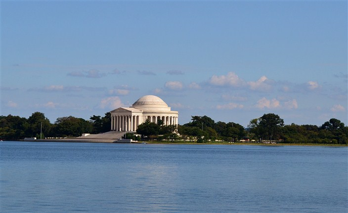 Jefferson Memorial from across the Tidal Basin