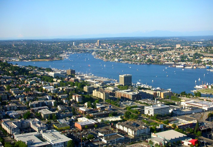 Lake Union - yes, the sun does shine occasionally