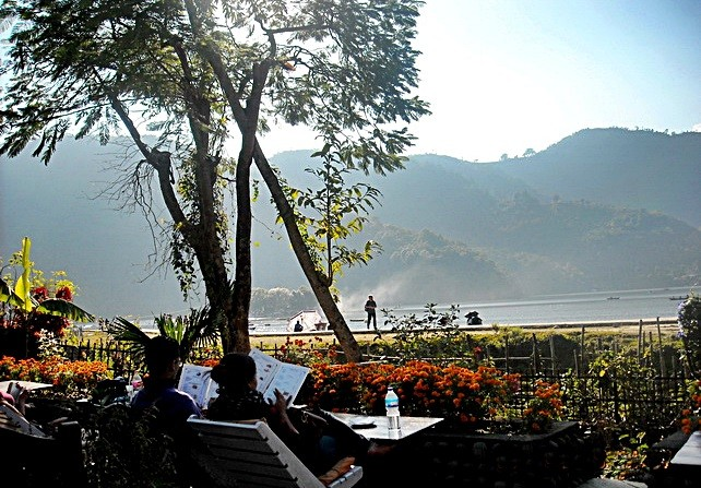 Lakeside restaurant, Phewa Lake