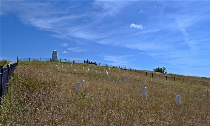 Last Stand Hill at the Little Bighorn Battlefield