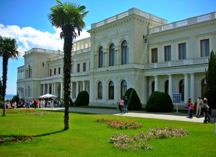 Livadaya Palace, summer home to the last czar, Nicholas II and his family, and site of the Yalta Conference, World War II