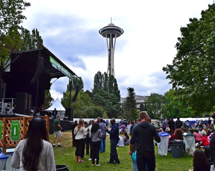 Live music in the shadow of the Space Needle