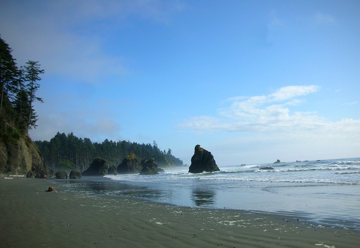 Looking south, Ruby Beach