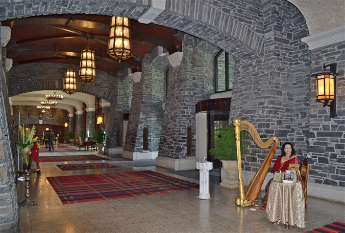 Main entrance and lobby of the Fairmont