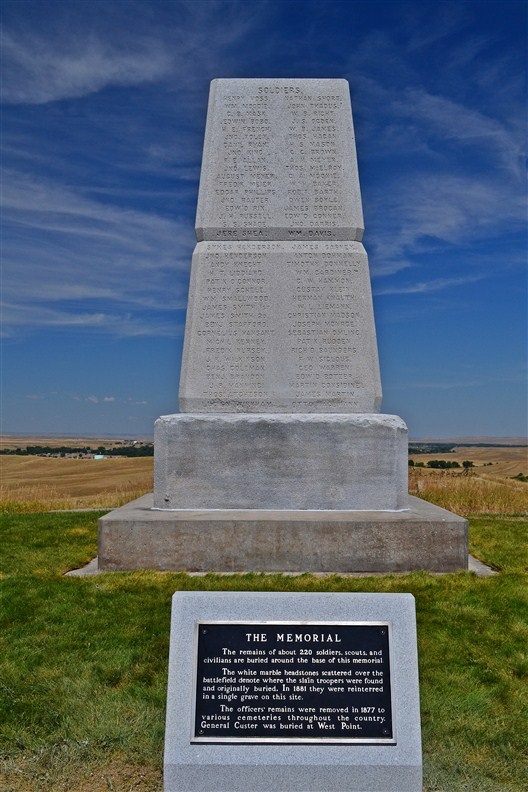 Memorial to the fallen soldiers of the 7th Cavalry