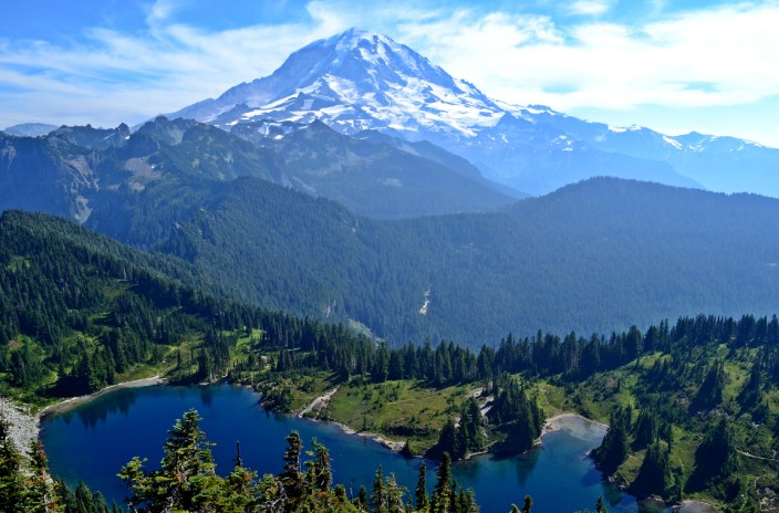 Mt. Rainier from Tolmie Peak lookout