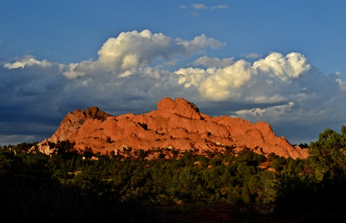 Near sunset, clearing storm in Garden of the Gods, Colorado Springs