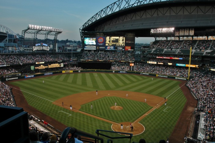 Night game at Safeco Field
