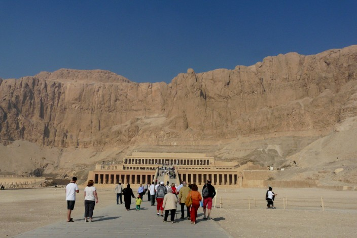 On the approach to Queen Hatshepsut's temple