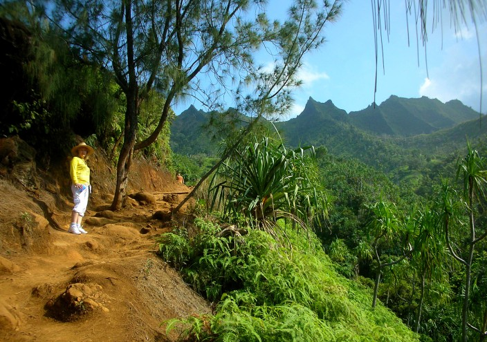 On the Kalalau trail