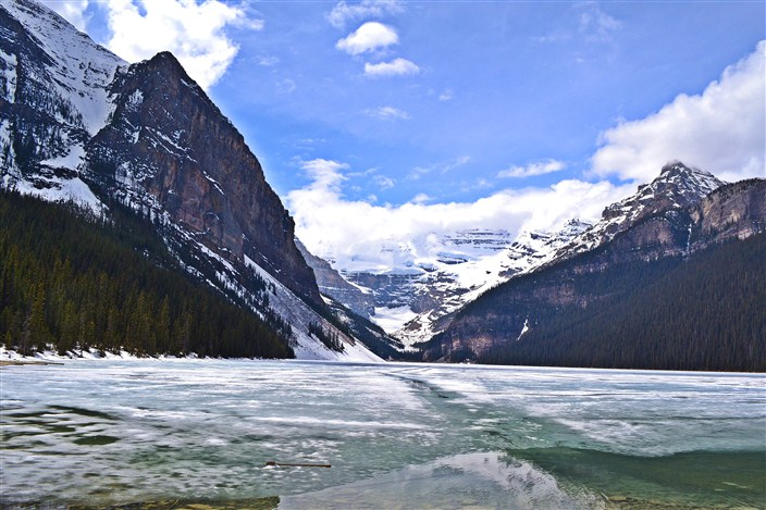 Our first look at Lake Louise