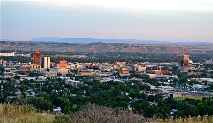 Overview of Billings from the Rim Rocks