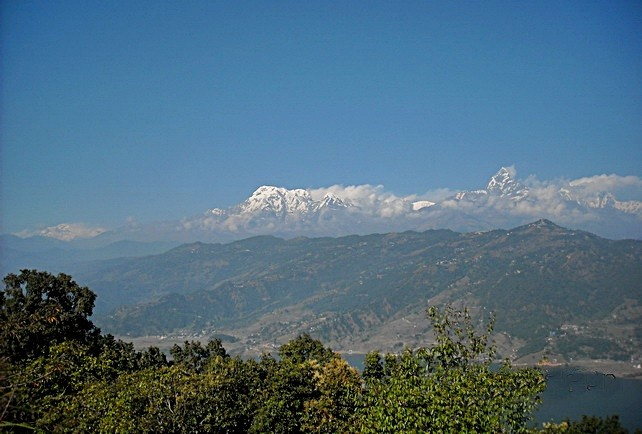 Phewa Lake and the Himalayas, another view