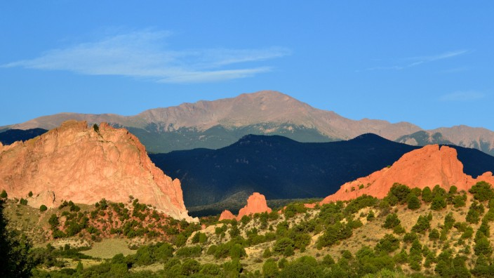 Pikes Peak at dawn