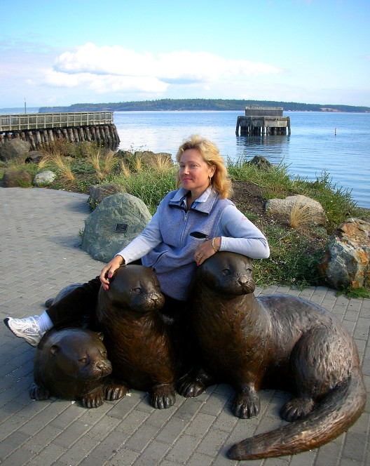 Posing with friends on the dock at Port Townsend