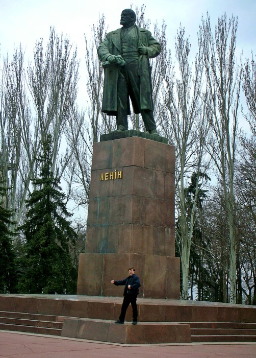 Posing with my buddy Comrade Lenin