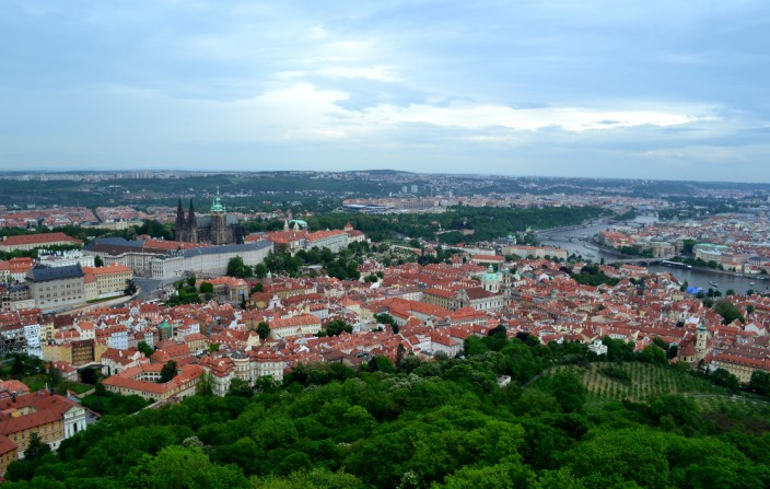 Prague Castle, center left