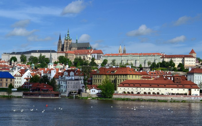Prague Castle overlooking the Vltava River