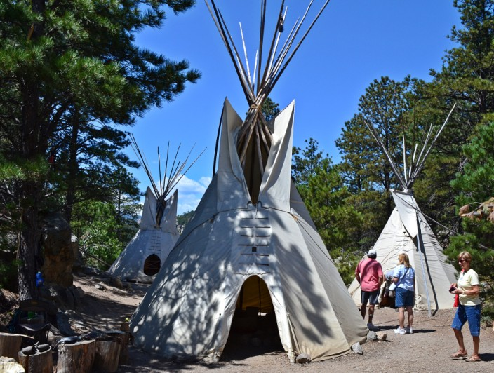 Replica Lakota village along Presidential Trail