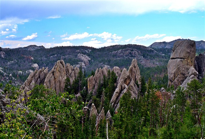 Rockscapes in the Needles area of the Black Hills
